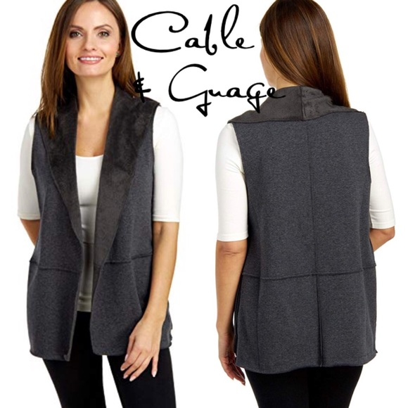 Cable & Gauge Jackets & Blazers - Cable & Guage open front fleece cardigan M